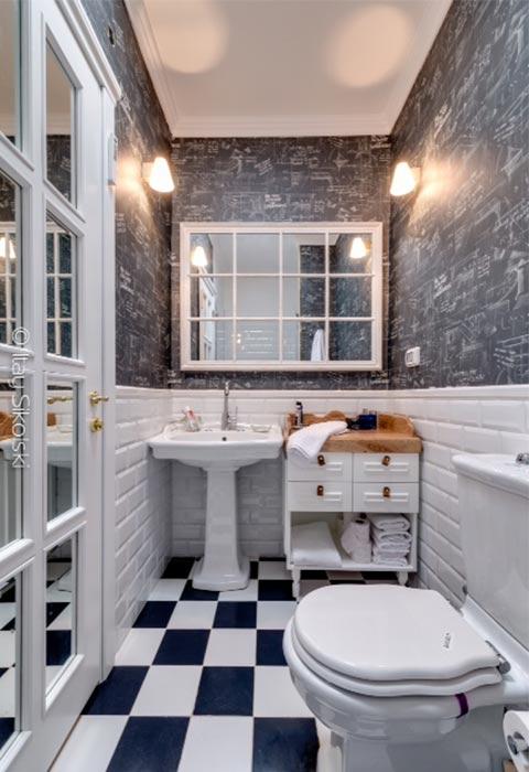 טפט בחדר אמבטיה