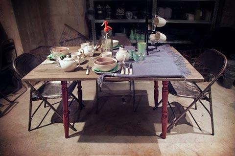 שולחן אוכל מעץ מלא, שולחן עץ עבודת יד, שולחן חג, עריכת שולחן חג, שולחן עץ מעוצב