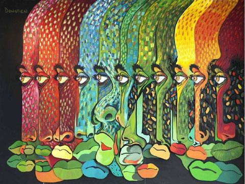 יצירה של האמן האפרו-קובני דונטיין, מתוך התערוכה