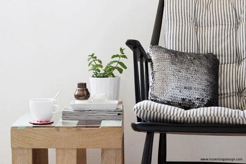 פינה בבית של אלישבע עם פרויקט DIY מהבלוג | צילום: אלישבע מנקין